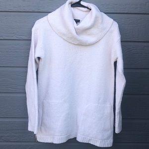 Talbots women's SP cream cowl neck pocket sweater